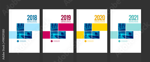 Fototapeta Cover design template corporate business annual report brochure poster company profile catalog magazine flyer booklet leaflet. Cover page design element A4 sample image with Gradient Mesh. obraz