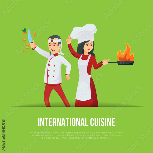 Photo  Masters of international cuisine concept