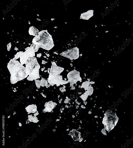 ice blocks splash Fototapete