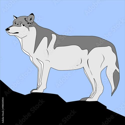 Dire Wolf Tablou Canvas