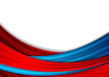Blue And Red Abstract Smooth Waves Background