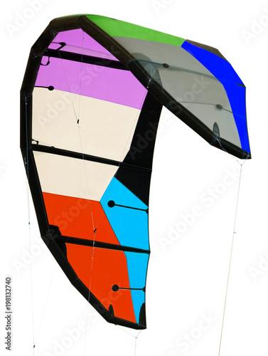 voile de kite-surf sur fond blanc