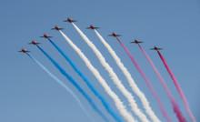 Red Arrows Aerobatic Team Disp...