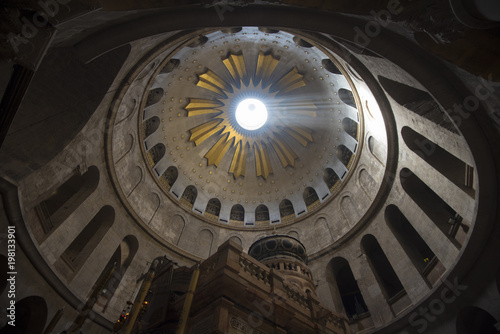 Fotografie, Obraz  Dome in the Church of the Holy Sepulchre
