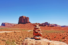 The Stack Of Stones In Monument Valley, Utah, USA.