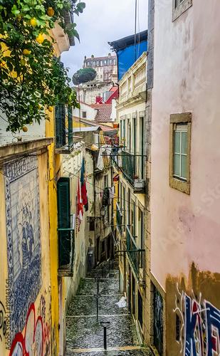 Spoed Foto op Canvas Mediterraans Europa City street. Lisbon, Portugal