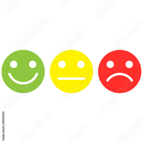 Smilesmiley Happysadstraight Faceemoticon Isolated Vector Buy