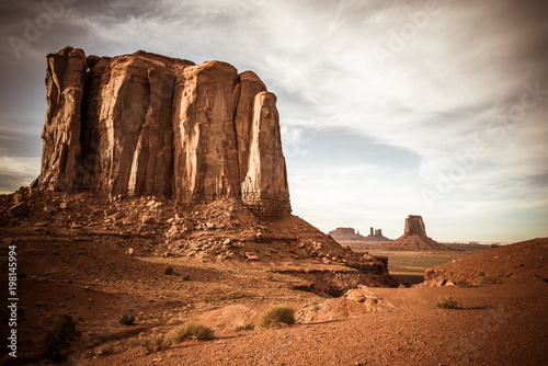 Printed kitchen splashbacks Cappuccino The desert and rock formations in Monument Valley Arizona