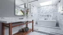 Modernes Badezimmer Mit Weiße...