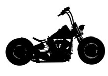 Silhouette Of Motorcycle Vector
