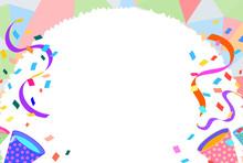 うさちゃんCelebration Background With Crackers 4誕生日