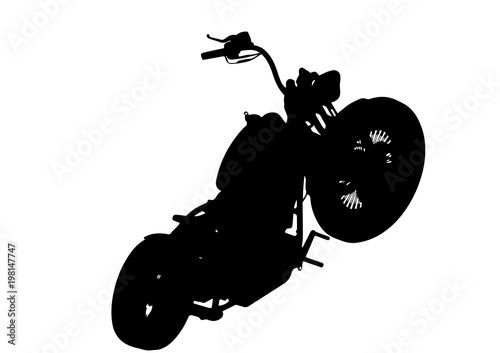 Foto op Canvas Motorfiets silhouette of motorcycle vector
