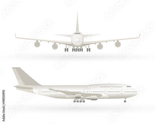 Fotografia Big commercial jet airplane