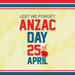 creative abstract, poster for Anzac Day with nice and beautiful design illustration of poppies in a background.