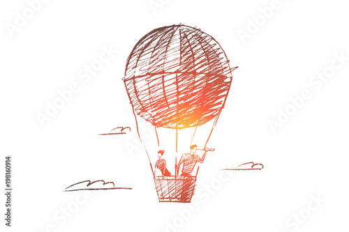 Fotomural Vector hand drawn searching concept sketch
