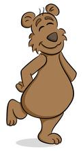 Fröhlicher Cartoon Bär