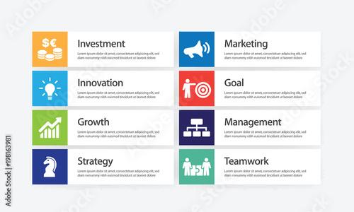 Fotografía  Revenue Infographic Icon Set