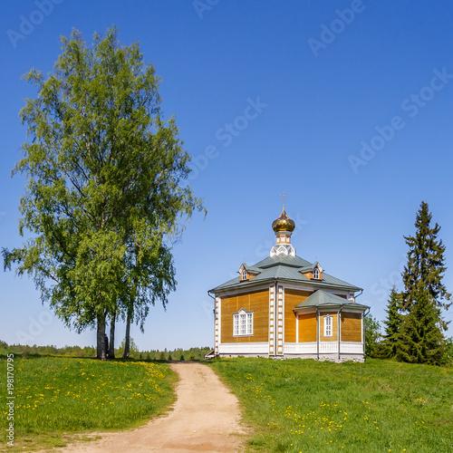 Foto op Aluminium Monument Church of St. Nicholas the Wonderworker of the Olginsky Mostastrya, Russia