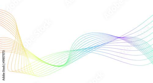Rainbow Color Abstract Wave Background Template Acheter Ce Vecteur