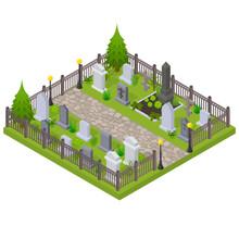Cemetery Concept 3d Isometric ...