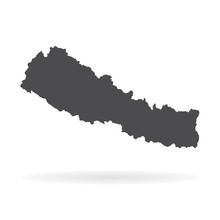 Vector Map Nepal. Isolated Vec...
