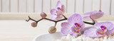 Fototapeta Orchid - Spa setting still life with orchid