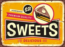 Sweets And Cakes Vintage Tin S...