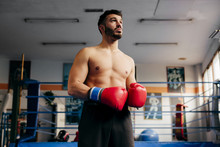 Handsome Fighter In The Gym