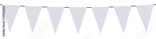Obraz Bannière. Guirlande, fanions blancs - fototapety do salonu