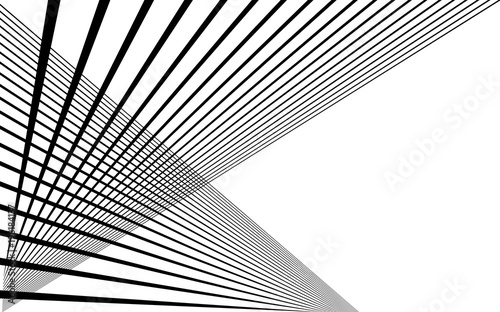 black straight lines abstract background Canvas Print