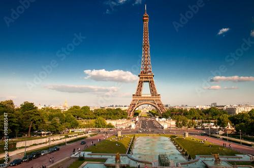 Deurstickers Eiffeltoren Fontane a Parigi