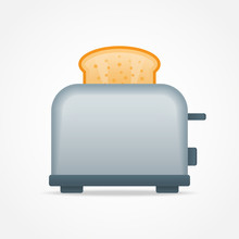 Toaster With Slice Of Toast Br...