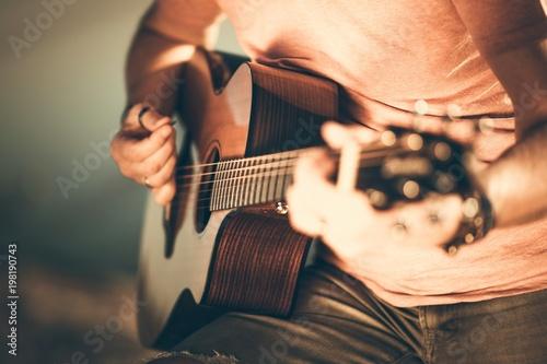 Fotografie, Obraz Guitarist Playing Guitar