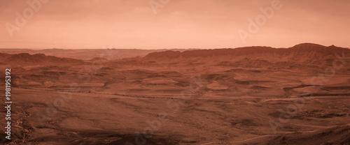 Panoramic desert view