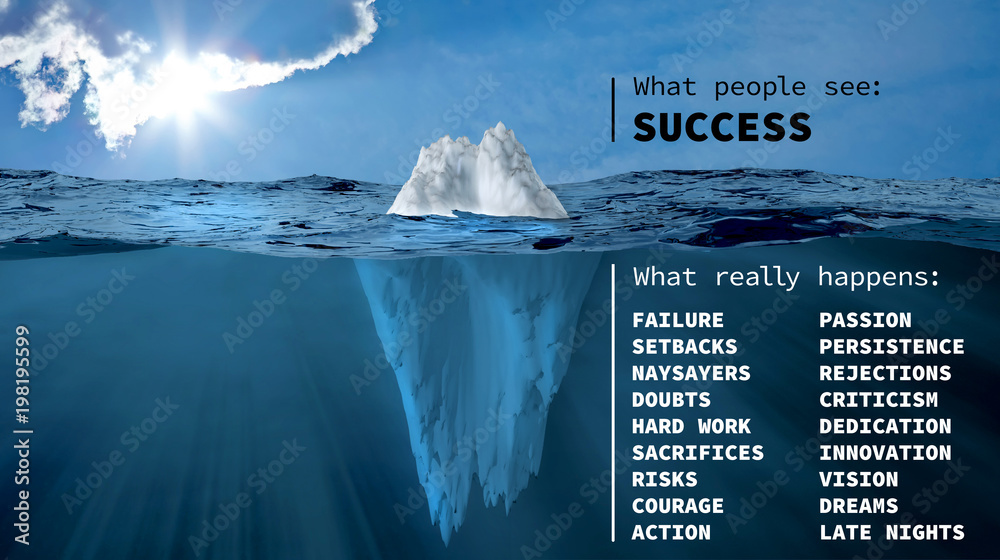 Fototapety, obrazy: The iceberg of success