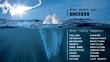 canvas print picture - The iceberg of success
