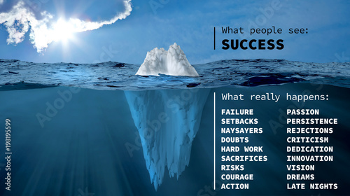 Photo The iceberg of success
