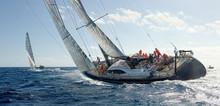 Sailing Yacht Regatta. Yachtin...