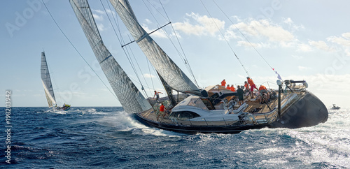 Valokuva Sailing yacht regatta. Yachting. Sailing