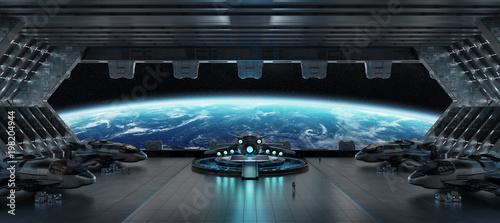 Fotografía Landing strip spaceship interior 3D rendering elements of this image furnished b