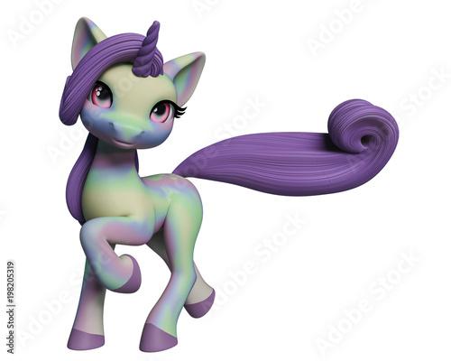 lovely unicorn cartoon