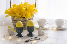 On A White Table Yellow Eggs, ...