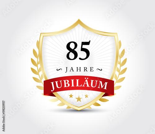 Tela  85 Jahre Jubilaeum Wappen Gold