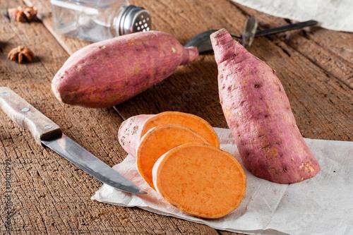 Fotografie, Obraz  isolated sweet potato