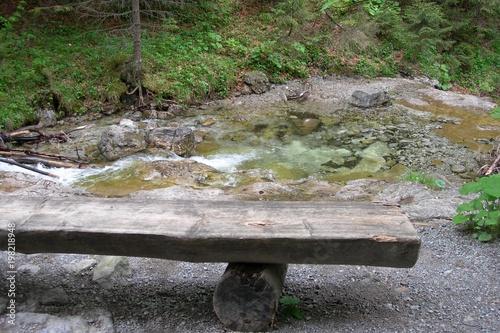 Canvastavla ławka w dolinie Białej Wody, Tatry