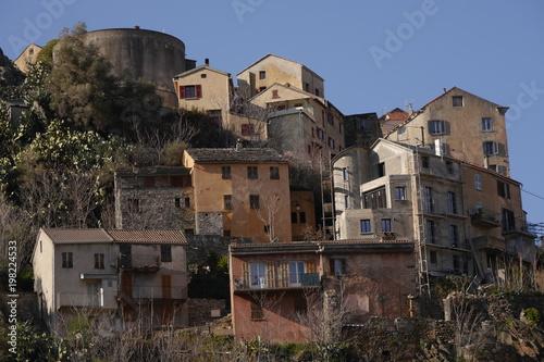 Fotografie, Obraz  Corte, Universitätsstadt Korsika