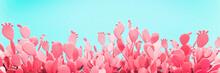 Unusual Pink Cactus Field On T...