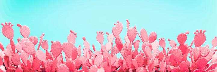 Unusual Pink Cactus Field O...