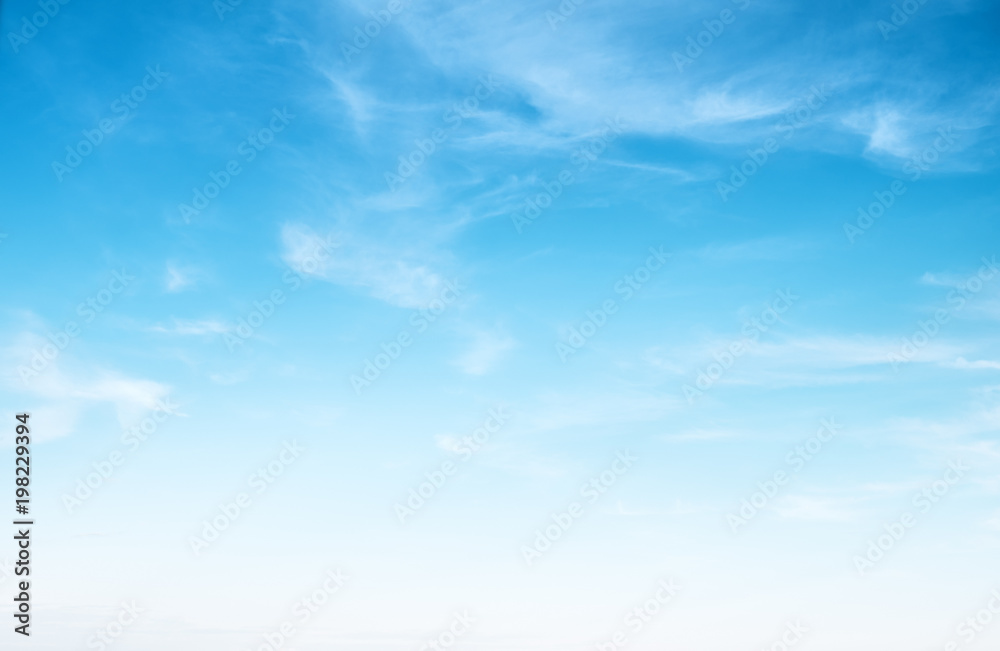 Fototapety, obrazy: Clear blue sky and white clouds