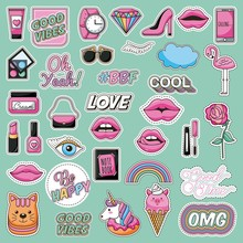 Set Of Patches Fashion Teen Lo...